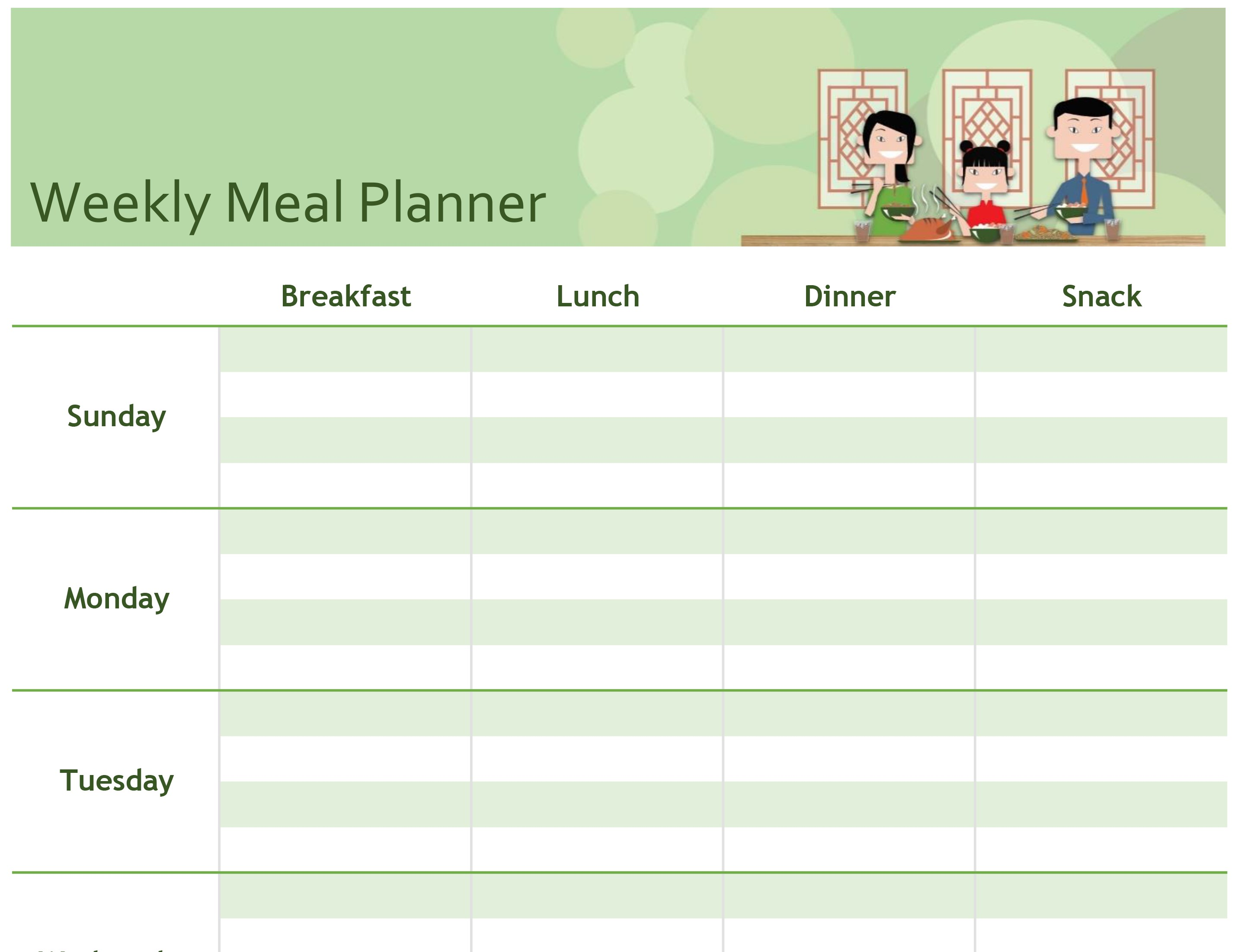 Studio Family Menu Planning